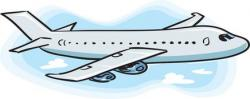 Moving clipart plane