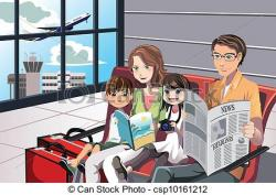 Airport clipart family tour