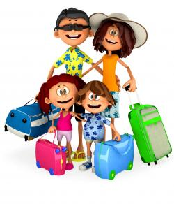 Airport clipart family tourist