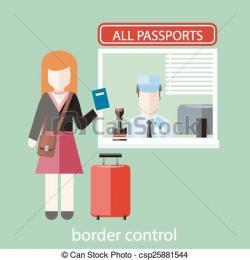 Airport clipart passport control