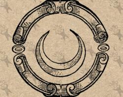 Alchemy clipart moon