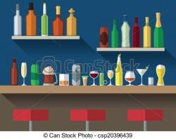Drinking clipart bar counter
