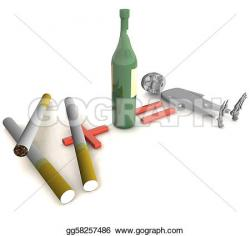 Liquor clipart cigarette
