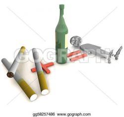 Liquor clipart cigarette