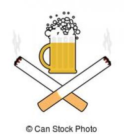 Beer clipart cigarette