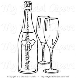 Alcohol clipart wedding wine glass