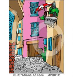 Balcony clipart alley