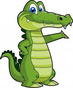 Fun clipart crocodile