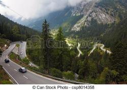 Alps clipart mountain road