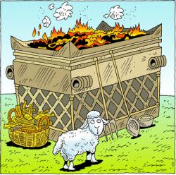 Lamb clipart altar