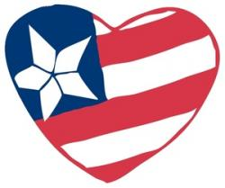 Heart-shaped clipart american flag