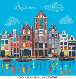 Canal clipart town