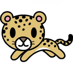 Cheetah clipart simple