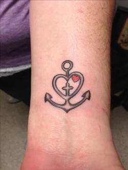 Drawn anchor hope and faith