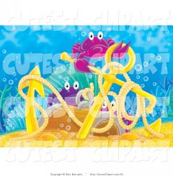 Anchor clipart underwater