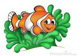 Clownfish clipart sea anemone