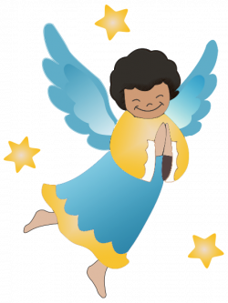 Moving clipart angel