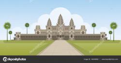Angkor Wat clipart hindu mandir