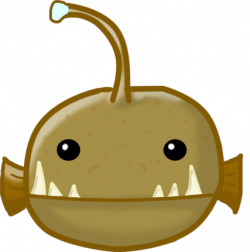 Anglerfish clipart cute