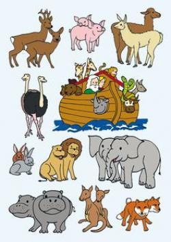 Animl clipart noah's ark
