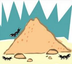 Hill clipart colony ant