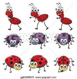 Drawn ladybug ant