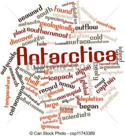 Antarctica clipart the word