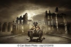 Apocalypse clipart destroyed city