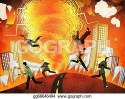 Apoclyptic clipart on fire