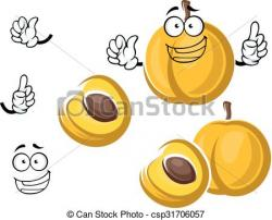 Apricot clipart fruit character
