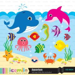 The Sea clipart aquarium