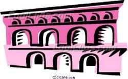 Aqueduct clipart ancient rome
