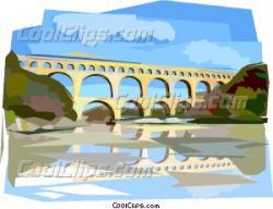 Aqueduct clipart pont du gard