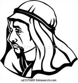 Arabian clipart black and white