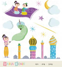 Genie Lamp clipart arabian night