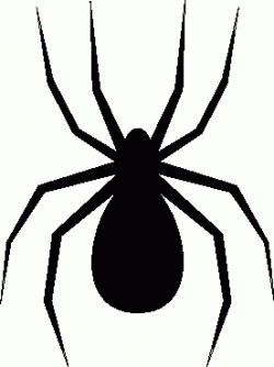 Moving clipart spider