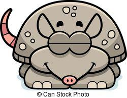 Armadillo clipart angry