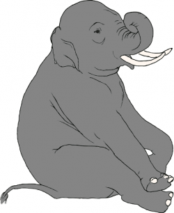 Tusk clipart gray elephant