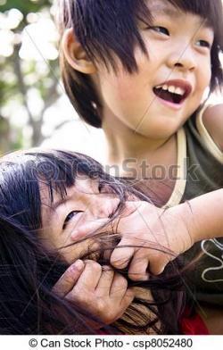 Asians clipart brother and sister