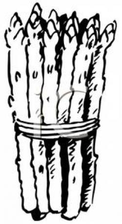 Asparagus clipart black and white