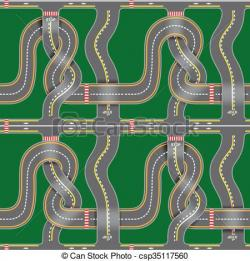 Asphalt clipart road map