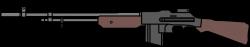 Assault Rifle clipart custom