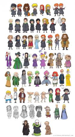 Drawn people harry potter