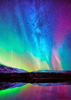 Aurora Borealis clipart colourful