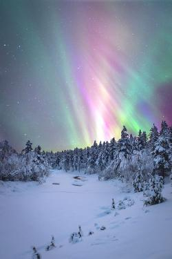 Aurora Borealis clipart north pole
