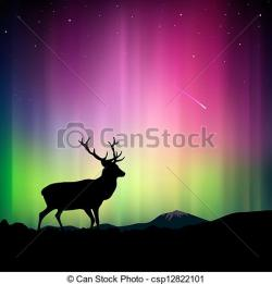 Aurora Borealis clipart northern light