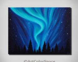 Aurora Borealis clipart painting