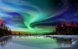 Aurora Borealis clipart rainbow aurora