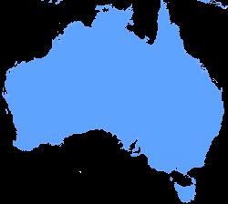 Continent clipart astralia