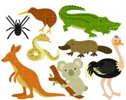 Aboriginal clipart australian animal